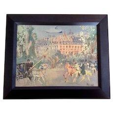 Jean Dufy Vintage European Street Scene Lithograph Print