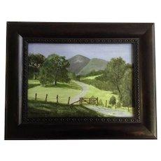 Karen Holt Rural landscape Oil Painting on Canvas Signed by Artist