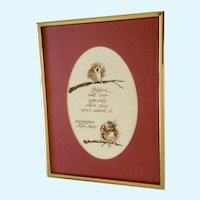 Mae Niolet, Baby Birdies Children's Poem Bird Watercolor Painting