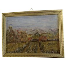 M Rahn, Small Impressionist Landscape Oil Painting Signed by Artist