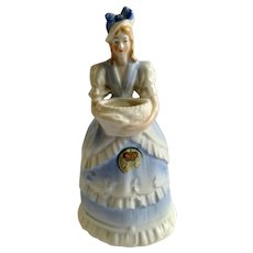Vintage Lady Planter Vase Royal Crown Czechoslovakia E&R Woman Figurine #8601