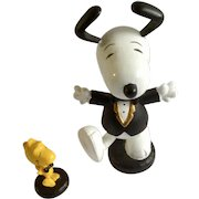 Rare Tuxedo Snoopy and Woodstock Peanuts Character Figurines UFS China