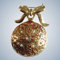 Christmas Ball Ornament Brooch Pin 2""