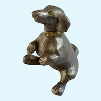 Dachshund Dog Rawcliffe Pewter P. Davis Miniature Animal Figurine Doxin