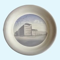 1957 Royal Copenhagen Industry Building Laur. Knudsen Electrical Manufacturing Plate