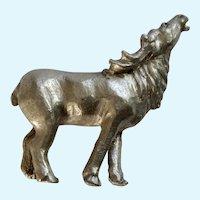 Bull Elk Bugling Rawcliffe Pewter P. Davis Miniature Animal Figurine