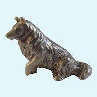 Collie Dog Rawcliffe Pewter P. Davis Miniature Animal Figurine