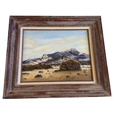 Mitzi Ashcraft, Mountain Landscape Oil Painting Signed By Colorado Artist
