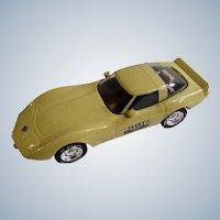 1978 Corvette Car Yellow Collectible Jim Beam Liquor Bottle Decanter