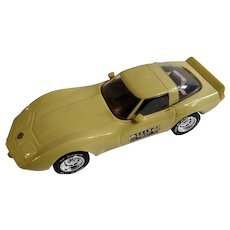 Collectible 1978 Yellow Corvette Car Jim Beam Liquor Bottle Decanter