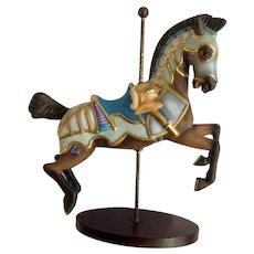 Franklin Mint Limited Treasury of Carousel Art #2 Horse Knight Animal Porcelain Figurine 1989