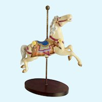 Carousel Horse Franklin Mint Porcelain Figurine 1989