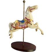 Franklin Mint Limited Treasury of Carousel Art #2 Horse Animal Porcelain Figurine 1989