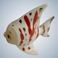 Angelfish Anthropomorphic Relco Japan Ceramic Pottery Fish Figurine