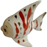 Vintage Anthropomorphic Angelfish Relco Japan Ceramic Pottery Fish Figurine