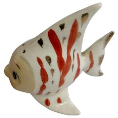 Vintage Anthropomorphic Angelfish Relco Japan Ceramic Pottery Fish Figurine