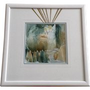 Carolyn H Evridge, She Led Them to the Light When They Were Lost Watercolor Mixed Media Works on Paper Signed By Artist