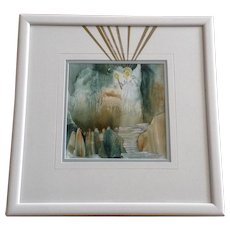 Carolyn H Evridge, Angel Led Them Watercolor Mixed Media Painting