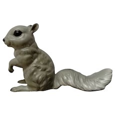Rare Josef Originals Gray Squirrel Begging to be Feed Ceramic Animal Figurine Made in Japan