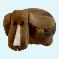Artesania Rinconada Basset hound Puppy Dog Ceramic Figurine Uruguay #AR202-2517
