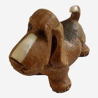 Artesania Rinconada Basset Hound Puppy Dog Ceramic Figurine Uruguay 1970's