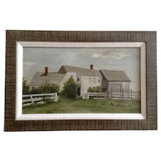 Wonderful Homestead Ranch House Oil Painting On Board