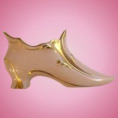 Vintage Carlin Comforts CC Pink Porcelain French Shoe Figurine