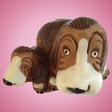 Basset Hound Puppy Dogs Terra-cotta Earthenware Animal Figurine Cidcal