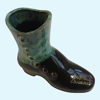 Blue Mountain Pottery Boot North Bay Canada Souvenir Figurine