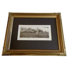 Russian Nikitsky Monastery Castle on a Hill Etching Limited Edition Print Signed by Artist