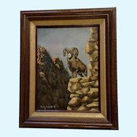 Charyl Crutchfield Bighorn Sheep On Rocky Canyon Wildlife Oil Painting