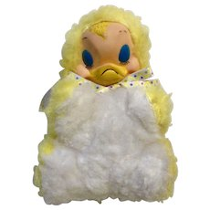 Easter Mid-Century Stuffed Rubber Face Yellow Chick Plush Toy Duck Animal