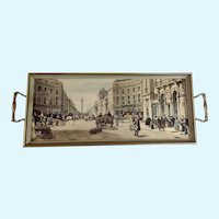 Vintage Serving Tray Figural Street Scene Nelson's Column London
