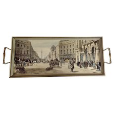 Vintage Serving Tray Figural Street Scene Nelson's Column London