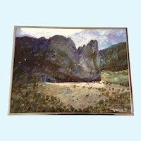 A. Cimlin, Garden Of The Gods Colorado Springs Oil Painting