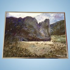 A. Cimlin, Garden Of The Gods Colorado Springs At Dusk, Oil Painting on Canvas Signed By Artist