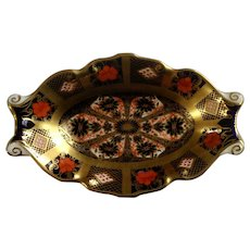 Royal Crown Derby Old Imari Plate Silver Tray Dish 1128