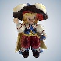 Mid-Century Napco Pirate Blonde Hair Girl Bobby Shaftoe Nursery Rhyme K2559 Ceramic Figurine  Japan