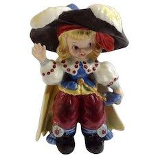 Napco Pirate Blonde Hair Girl Bobby Shaftoe Nursery Rhyme K2559 Ceramic Figurine Mid-Century Japan