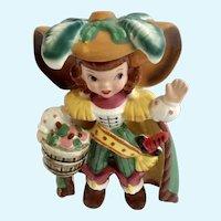 Mid-Century Napco Pirate Girl Bobby Shaftoe K2559 Figurine Japan