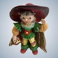 Mid-Century Napco Pirate Black Hair Girl Bobby Shaftoe Nursery Rhyme K2559 Ceramic Figurine Japan