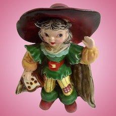 Napco Pirate Black Hair Girl Bobby Shaftoe Nursery Rhyme K2559 Ceramic Figurine Mid-Century Japan
