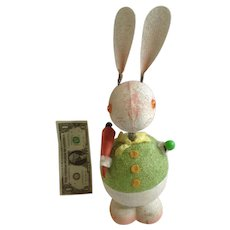 Mid-Century Easter Bunny West Germany Paper Mache Bobble Head Container