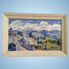 Frank Swoboda, South American Countryside Landscape Oil Painting Signed By Artist