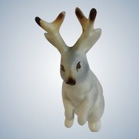 Jackalope Jack Rabbit Gray Bone China Miniature Mama Animal Figurine