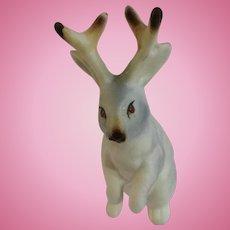 Jackalope Jack Rabbit Gray Bone China Miniature Mama Animal Figurine