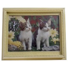 3D Kitten Cat Wall Art Frame Clock Italy by Albatros