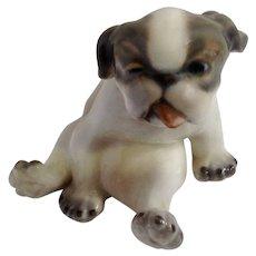 Dahl Jensen Copenhagen Denmark Adorable Pekingese Puppy Dog Porcelain Figurine 1134 W