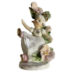 Geo Z. Lefton February Birthday Angel Girl Ceramic Figurine #985