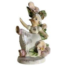 Geo Z. Lefton February Birthday Angel Girl Ceramic Figurine #985